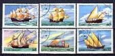 Bateaux St Thomas et prince (61) série complète de 6 timbres oblitérés