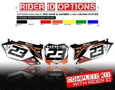 2006 2007 YZ 250F / YZ 450F CUSTOM NUMBER PLATE BACKGROUND GRAPHICS YAMAHA DECAL