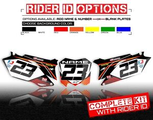 2010 2011 2012 HONDA CRF 250R CUSTOM NUMBER PLATE BACKGROUND GRAPHICS  DECAL