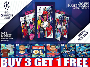 TOPPS CHAMPIONS LEAGUE 18/19 STICKERS FOILS, BADGES, KITS !! BUY 3 GET 1 FREE!!