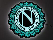 New Ninkasi Brewing Eugene Oregon Edge Lit Beer Sign Light Man Cave Neon Bar Pub