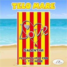 Telo Mare in spugna Lecce 2 squadra Serie A nome personalizzato regalo estate