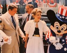 Walt Disney World EPCOT Orig 1985 PHOTO Pres Ronald Reagan & Nancy Mickey Mouse