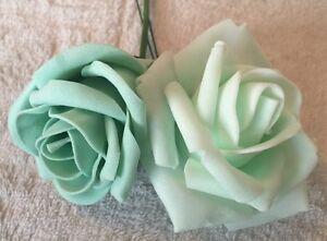 mint green samples roses x 2