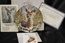 """W.S. George """"A Jump Into Spring Fawn"""" Collector's Plate"""