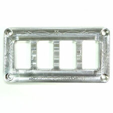 Custom Universal Silver Switch Plate Dash Panel Only SUV Car Side by Side Part