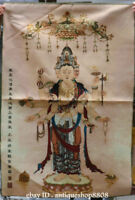"36"" Tibet Silk Satin 1000 Arms Avalokiteshvara of Goddess Thangka Painting Mural"