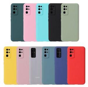 Soft Slim Silicone TPU Matte Back Case Cover Huawei Honor 9/10/20/30 Lite/Pro UK