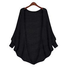 Women Long Sleeve Batwing Cardigan Sweater Coat Jacket Slim Outwear Casual Tops