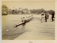 UK, Henley-on-Thames, Yale Team  Vintage albumen print.  Tirage albuminé  11