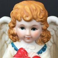 Vintage Homco Bisque Porcelain Angel Bell Holiday Christmas Decor 1988