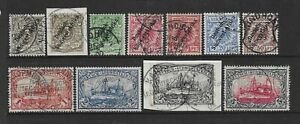 Collection of good used German South West Africa stamps.