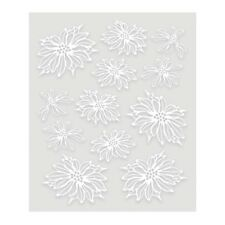 """ULTIMATE CRAFTS A4 Embossed Decoupage Vellum POINSETTIA 210 x 297mm 8.2 x 11.6"""""""