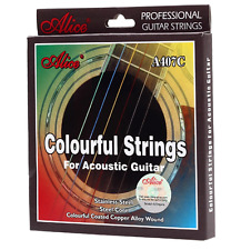 6Pcs Colourful Acoustic Guitar Strings
