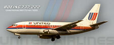 "United Airlines Boeing 737-222 Tulip 2""x 5"" Handmade Photo Magnet (PMT1619)"