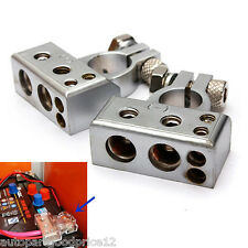 2pc 12V (- and +) Battery Terminals Clamps Connectors With Cover Car Van Caravan