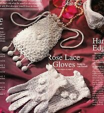 VICTORIAN Irish Rose Purse/Gloves/Edging/ Crochet Pattern INSTRUCTIONS ONLY