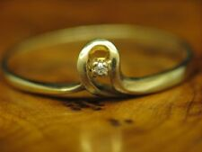 835 Silver Ring with Diamond Decorations/Gold Plated / Real Silver/1,0g / Rg