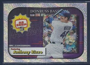 2020 Donruss As Seen Rapture #4 Anthony Rizzo Chicago Cubs