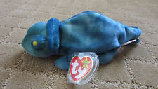 RARE IGGY/RAINBOW CHAMELEON TY BEANIE BABY W/ HANG AND TUSH TAG ERRORS