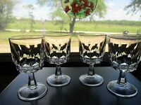 Arcoroc 'Arctic' Crystal Wine Glass Set of Eight (8) Made in France 4 Oz.