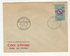 Côte d'Ivoire 1 timbre sur lettre FDC 1960 tampon Abidjan /L525
