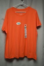 Womens Shirt Size 2X By Hanes Orange NWT Pull Over Short Sleeve