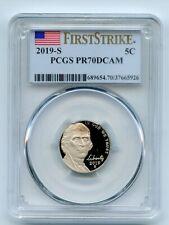 2019 S 5C Jefferson Nickel PCGS PR70DCAM First Strike