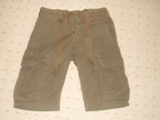 DISTRESSED KHAKI LOOSE FIT CARGO SHORTS SIZE SMALL