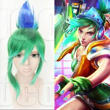 League of legends LOL Exile Arcade Riven skin Cosplay Kostüme Perücke wig Grün