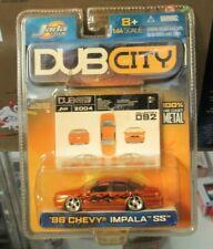 JADA Dub City '96 Chevy Impala SS Chevrolet 1996 B Body Orange Flames 2004 # 092