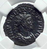 CARINUS Authentic Ancient Lugdunum 283AD Roman Coin VICTORY NGC Certified i81624
