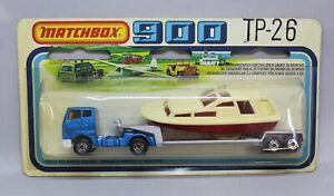 "Matchbox Lesney Convoy TP-26 ARTICULATED TRUCK + BOAT ON LOW LOADER TRAILER """