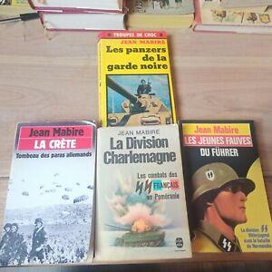 Lot De Livres De Guerre (Jean Mabire)