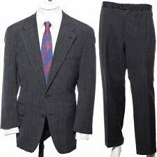 43S CHAPS Ralph Lauren Charcoal-Gray Wool Two-Piece SUIT Jacket Blazer Pants 36