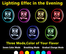 1pcs LED Cup Pad Mat Lighting Accessories Lights For Dodge Car Vehicle Lamp Part
