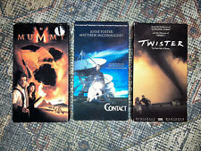 Lot VHS movies Twister The Mummy Contact Jodie Foster