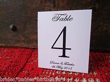 Kraft White Table Numbers 1 to 10 Tent Style Wedding Birthday Party Personalised