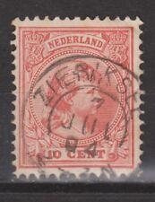 NVPH Netherlands Nederland nr 37 TOP CANCEL ZIERIKSEE Wilhelmina 1893