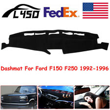 For Ford Truck F150 F250 1992-1996  Dashmat Dash Cover Dashboard Mat Black FLY5D