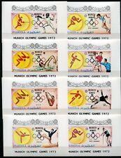Fujeira 1972 Olympiade Olympics München Munich Sport 1407-1431 Blocks MNH RAR