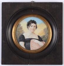 """Portrait of a widow"", French miniature, 1810/15"