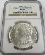 1900 Morgan Silver Dollar * NGC MS62 * Mcclaren Collection *