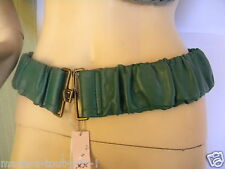 MEXX CEINTURE féminine taille ou hanches vert sapin XS S extensible confortable