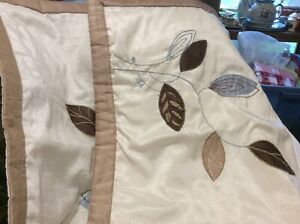 Pair of Beautiful Off White/Beige/Blue Polyester Pillow shams