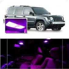 For Jeep Patriot 2007-2016 Pink LED Interior Kit + Pink License Light LED