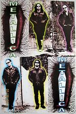 "METALLICA 'DEATH MAGNETIC"" POSTER FROM MEXICO-4 Shots Of Band & 2 Logos"
