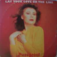 """PUSSYFOOT ~ Lay Your Love On The Line ~ 12"""" Single PS"""