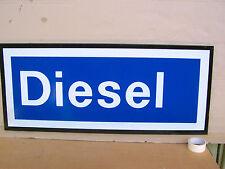 INSEGNA SIGN IN LATTA DIESEL PROMO D'EPOCA PER FIAT PEUGEOT VW OPEL MERCEDES TD