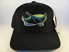 MLB Tampa Bay Devil Rays Vintage Snapback Hat Cap American Needle Black